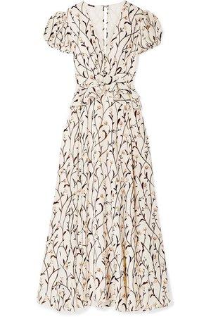 Johanna Ortiz | Roses After the Rain ruffled floral-print silk-crepe maxi dress | NET-A-PORTER.COM