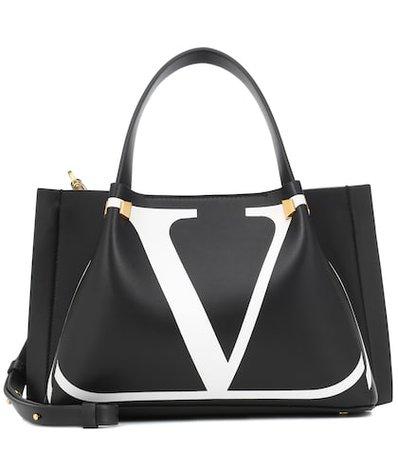 Valentino Garavani Go Logo Escape leather shopper