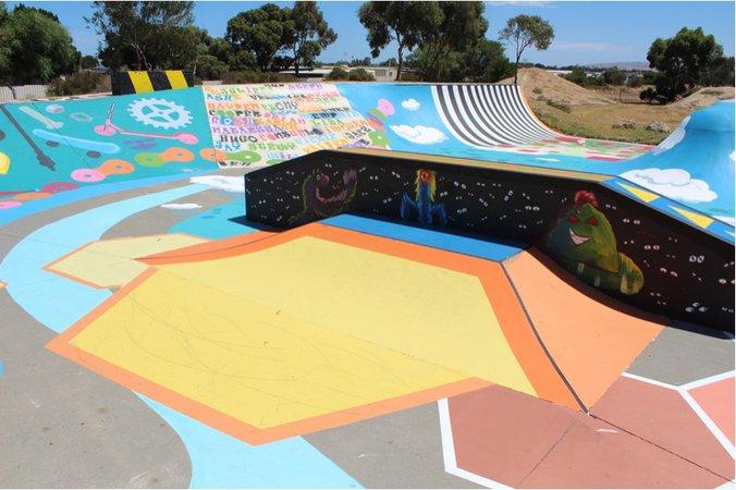 colorful skate park