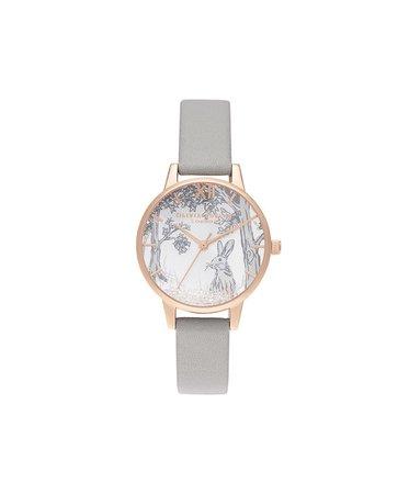 Snow Globe Winter Bunny Midi Grey & Rose Gold | Olivia Burton London | Olivia Burton US