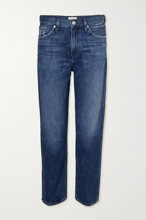 Blue Marlee cropped high-rise tapered jeans | Citizens of Humanity | NET-A-PORTER