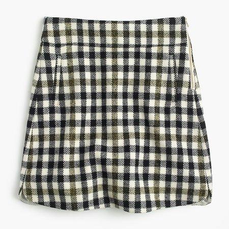 J.Crew: Mini Skirt In Oxford Check For Women
