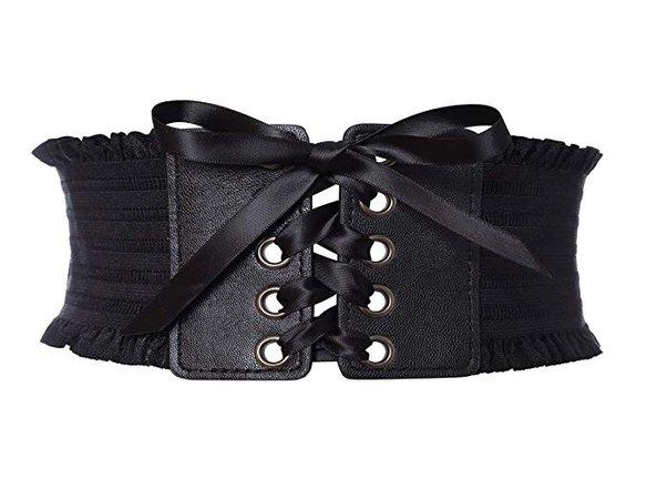 ribbon tie black corset belt - Google Search