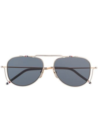Thom Browne Eyewear TBS917 Aviator Sunglasses - Farfetch
