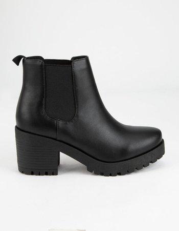 SODA Lug Sole Womens Chelsea Boots - BLACK - 359871100 | Tillys