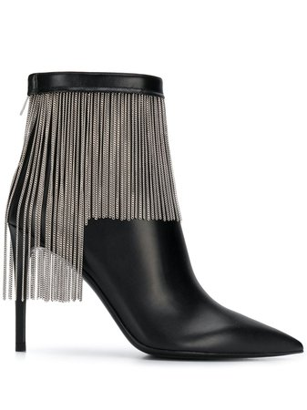 Balmain Fringed Ankle Boots - Farfetch