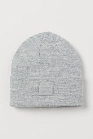 Fine-knit Hat - Gray