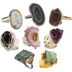 gem crystals rings jewelry