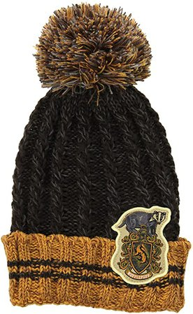 Amazon.com: Warner Brothers Harry Potter Hufflepuff House Heathered Pom Beanie Hat for Adults and Kids: Clothing