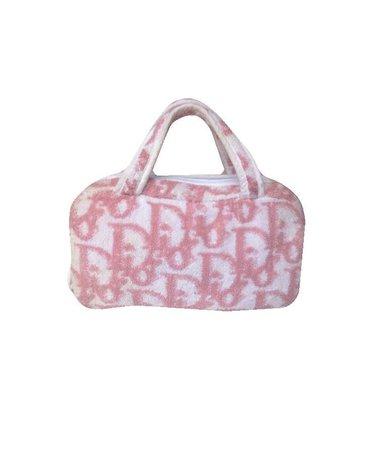 Dior Pink Monogram Terry cloth Small Bag