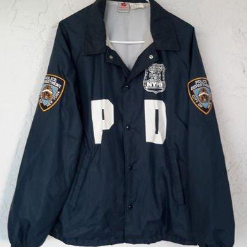 nypd windbreaker jacket