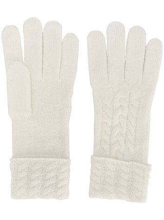 White N.Peal cable-knit gloves - Farfetch