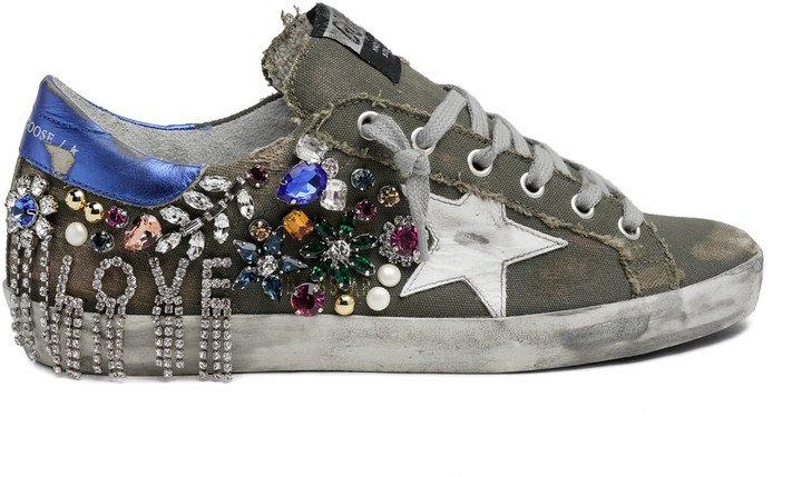 Super-Star Crystal Embellished Sneaker