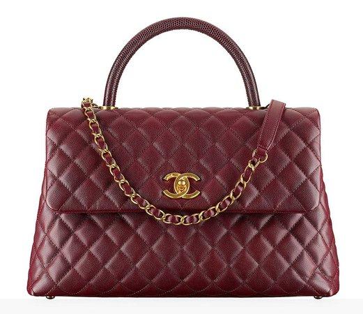 maroon purse