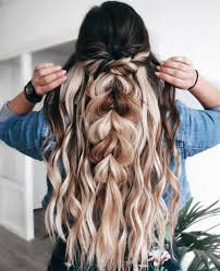 half up curly hairstyles for long hair - Google Search