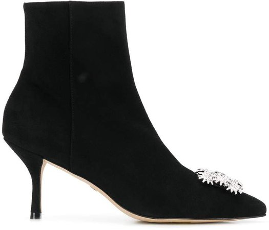 Buckle-Front Ankle Boots