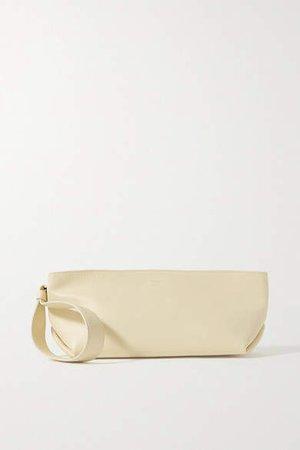 Alma Small Leather Clutch - Cream
