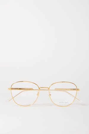 Gold Round-frame gold-tone and acetate optical glasses | Bottega Veneta | NET-A-PORTER