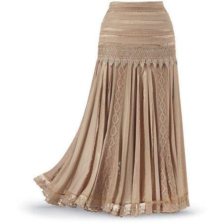 Beige Maxi (gypsy) Skirt
