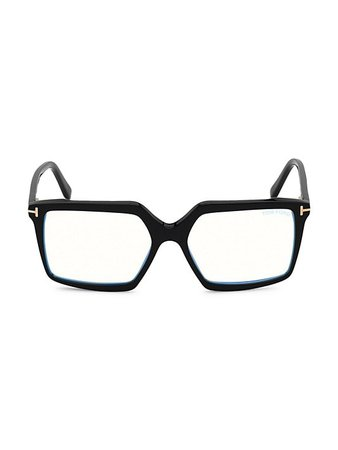 Tom Ford 54MM Blue Filter Optical Glasses   SaksFifthAvenue