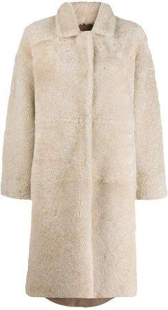 Liska oversized shearling coat
