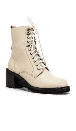 Seychelles Irresistible Bootie in Off White Leather | REVOLVE