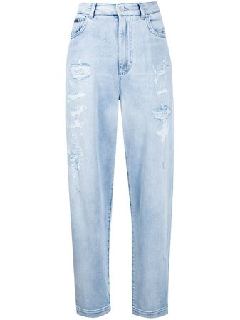 Dolce & Gabbana Distressed Boyfriend Jeans - Farfetch