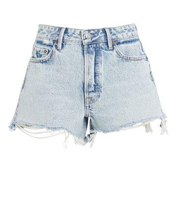 GRLFRND Helena Cut-Off Denim Shorts   INTERMIX®