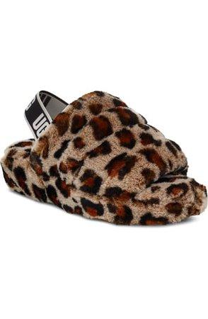 UGG® Fluff Yeah Genuine Shearling Slingback Sandal (Women)   Nordstrom