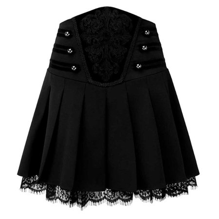 Killstar Killstar Mini skirt Abbey Pleated Black   Attitude Europe