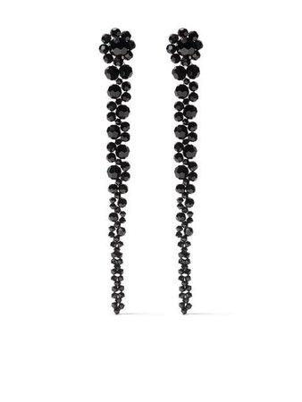 Simone Rocha Bead Drip Earrings ERG120903 Black| Farfetch