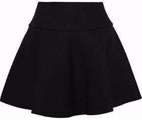 Flared Crepe Mini Skirt