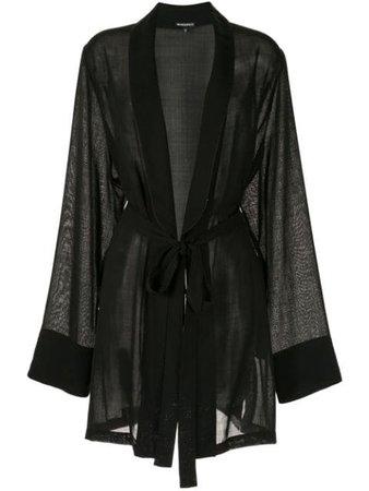 Black Ann Demeulemeester Voile Cardigan | Farfetch.com