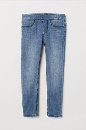 Denim Leggings - Light denim blue - | H&M US