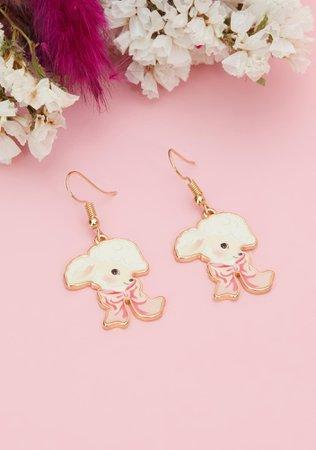 Baby Lamb Drop Earrings   Dolls Kill