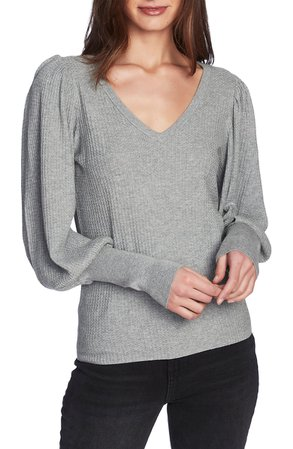 1.STATE Blouson Sleeve Textured Sweater | Nordstrom