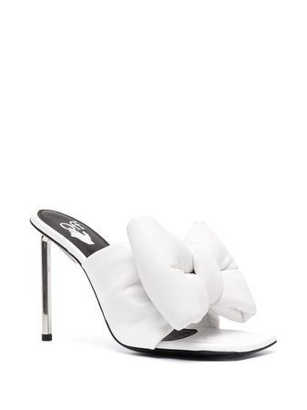 Shop white Off-White Allen bow mules with Express Delivery - Farfetch