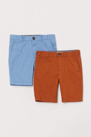 2-pack Chino Shorts - Orange