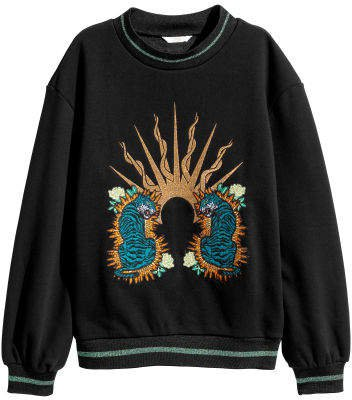 Embroidered Sweatshirt - Black