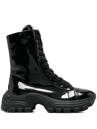 Miu Miu patent ankle boots - FARFETCH