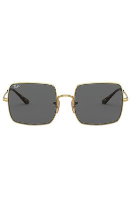 Ray-Ban Square Evolve in Gold & Dark Grey | REVOLVE