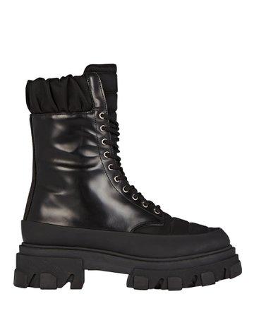 GANNI Lug Sole Combat Boots | INTERMIX®