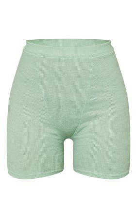 Mint Ribbed Cycle Shorts | Co-Ords | PrettyLittleThing USA