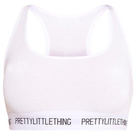 sports bra white