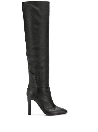 Giuseppe Zanotti Pebbled High Heel Boots - Farfetch