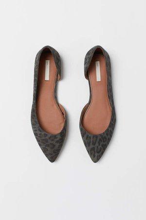 Suede Flats - Black