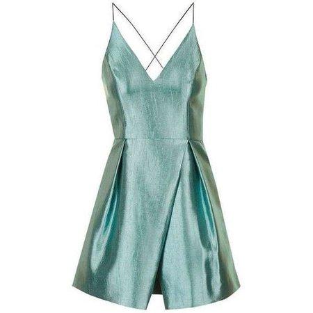 Metallic Turquoise Mini Dress