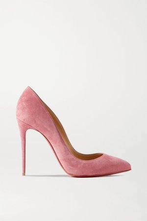 Pink Pigalle Follies 100 suede pumps   Christian Louboutin   NET-A-PORTER