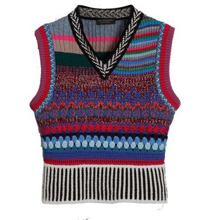 burberry mixed media melange wool