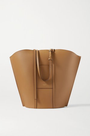 Aimee Leather Tote - Brown
